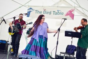 Ethryll playing the Bird Table Stage at Tramlines Folk Forest in July 2016.